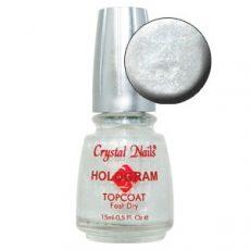 Hologram Topcoat - Hologramos fedőlakk - Gyöngyházfehér - 15 ml