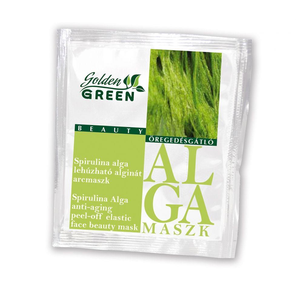 Golden GREEN Spirulina alga öregedésgátló lehúzható alginát
