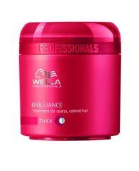 Wella Brilliance hajpakolás vastag szálú hajra 150 ml